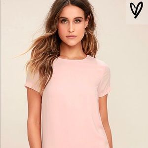 LuLu's Shift and Shout Blush Pink Shift Dress